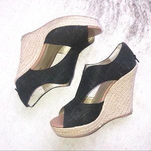 Seychelles Anthropologie wedge sandals black sz 10